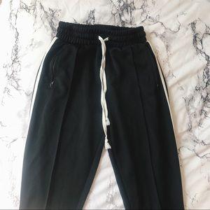 Black & white stripe joggers pants